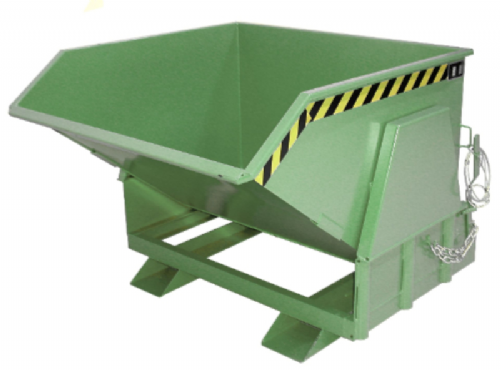 Roll Forward Tipping Skip - fully enclosed mechanism. Type BK